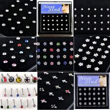24pcs Wholesale Lot Body Jewelry Piercing 316L Surgical Steel Nose Stud Rings
