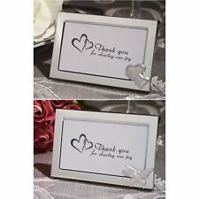 6 X Two Hearts Become One Picture Photo Frame Wedding & Party Bag Filler Favors