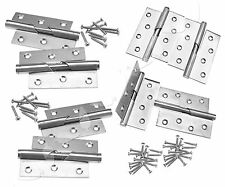 """Pair of 3""""/4"""" Rising Butt Left/Right Handed Lift Off Door Hinge Stainless Steel"""