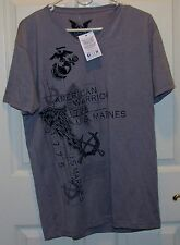 "Mens USMC ""American Warrior"" T-Shirt by Apprime Apparel-Size L-NWT-FREE Shipping"