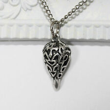 Bird Skull Raven Gothic Necklace Pendant Antique Silver Occult Wicca Awesome