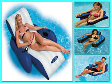 Floating Recliner Lounge Swimming Pool Chair Inflatable Water Float Raft Comfort