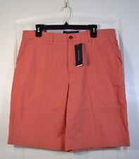 NWT MEN'S TOMMY HILFIGER SCONSET RED CLASSIC FIT CHINO SHORTS SIZE 32, 34