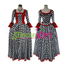 Rococo Ball Gown Dress Gothic Lolita Medieval Renaissance Dress Costume