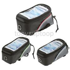 "Cycling Bike Bicycle 4.8"" Touch Screen Bag Tube Frame Pouch for Iphone Samsung"