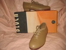 NEW BLOCH DANCEWEAR LEATHER WOMEN TIE-UP FULL SOLE TAN JAZZ TAP SHOES #S0301L