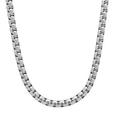 5mm Polished Stainless Steel Rounded Box Chain Necklace