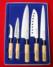 5 Pcs Chef Knives Kitchen Fruit Knife Japanese Cook Cutlery Deba Sushi Sashimi