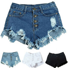 Sexy Womens Shorts Jeans Fashion Slim Fit Bore Hole Denim Shorts Casual Pants