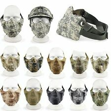 CSK Airsoft Tactical Paintball Hunting Half Face Mask Protection Skull Goggles