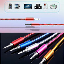 3.5mm Auxiliary Aux Male to Male Stereo Audio Cable Cord For iPod Car MP3 PC Lot