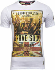 Mens Brave Soul Spirit Union Jack Print Graphic Short Sleeve T Shirt Size S - XL