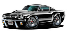 1965-66 Ford Mustang Muscle Car Art Print NEW