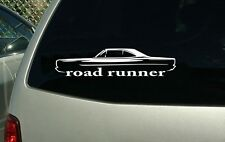 1968 1969 Plymouth Road Runner Vinyl Cut Sticker Decal NEW FREE SHIPPING