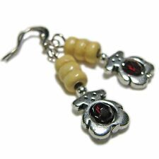 Adorable Tibetan Silver Teddy Bear Bead Earrings By SoniaMcD