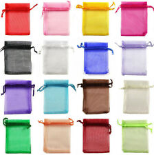 50Pcs Organza Wedding Xmas Party Favor Gift Candy Bags Pouches 9X7/12X9/13X18CM