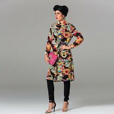 Abstract Multi-Coloured Maxi Shirt Dress- Black