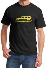Jeep Wrangler 4 Door 4x4 Classic Color Outline Design Tshirt NEW