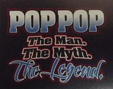 POP POP the man the myth the legend Black Tee  SM To 5XL NWOTS 3 or more 10% off