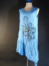 Vintage Dress Loose Cotton Sleeveless Soft comfortable Tunic Summer Dress
