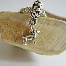 Chihuahua Mini Sterling Silver European-Style Charm and Bracelet- Free Shipping