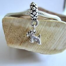 Scottie Mini Sterling Silver European-Style Charm and Bracelet- Free Shipping