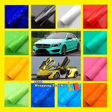 Gloss Glossy Color Vinyl Car Wrap Sticker Decal Bubble Free Air Release Film DIY