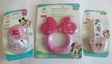 Minnie Mouse Nuk Orthodontic Pacifiers Disney + Pacifier Clip Holder + Teether