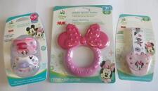 Minnie or Mickey Mouse Nuk Orthodontic Pacifiers + Pacifier Clip + Teether PICK
