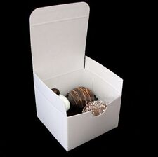 """White Wedding Party Favor Chocolate Candy Gift Boxes 3x3x2"""""""