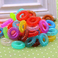 Lots 12pcs Women Girl Elastic Rubber Hairband Hair Tie Ring Rope Band Ponytail