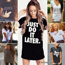 Fashion Womens Summer Top Loose Short Sleeve T-shirt Casual Workout Blouse Shirt