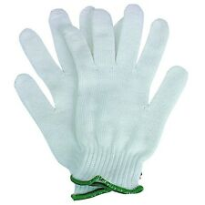 10 Pairs Poly / Cotton Work Gloves Interlock Kitted Plain Gardening Disposable