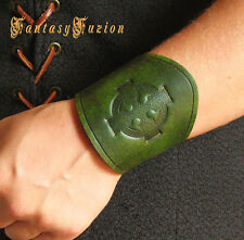 Medieval Renaissance Vintage LARP Celtic Cross Design Stamps Leather Cuff Bracer