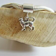 Cat Mini Sterling Silver European-Style Charm and Bracelet- Free Shipping