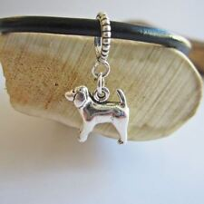 Spaniel Large Sterling Silver European-Style Charm and Bracelet- Free Shipping