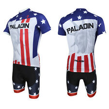 Men Statue of Liberty Bicycle Bike Cycling Short Jersey&Short Pants Suits D008s
