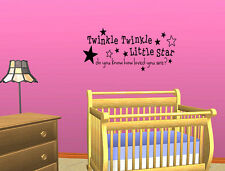 TWINKLE TWINKLE LITTLE STAR ~ Nursery Wall Sticker Vinyl Decal Quote Removable