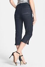NEW NYDJ Not Your Daughters Jeans CROP pants capri Nanette dark enzyme wash sz 4