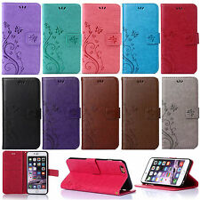 Retro Leather Wallet Butterfly Stand Case Cover For Apple iPhone 5/SE 6S/ 6 Plus