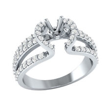 3.4mm Semi Mounting Solid Gold 0.36 ct Certified Natural Diamond Engagement Ring