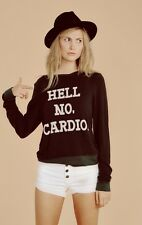 NWT Wildfox Couture - No Cardio Baggy Beach Jumper in Dirty Black