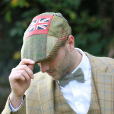Union Jack Tweed Flat Cap by Timothy Foxx Clothing UK Unisex Hat