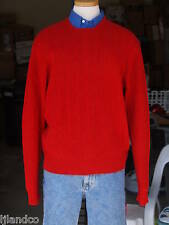 Polo Ralph Lauren 100% Cashmere Jumper Red Cable Knit   L XL NWT