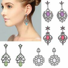 New 1 Pair Elegant Women Crystal Rhinestone Ear Stud Fashion Earrings Jewelry