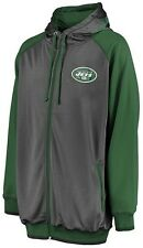New York Jets NFL Mens Majestic Full Zip Destiny Hoodie Big & Tall Sizes