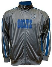 Indianapolis Colts NFL Mens Charcoal Tricot Track Jacket Big & Tall Sizes