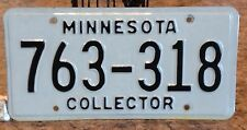 MINNESOTA COLLECTOR EMBOSSED LICENSE PLATE STATE ISSUED