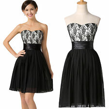 Black Short Teens Homecoming Evening Cocktail Gown Prom Party Bridesmaids Dress