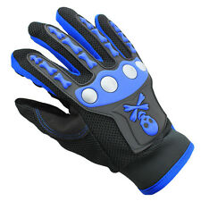 Silicone GEL Full Finger Cycling Gloves Skull Bike Bicycle Men Slip Mtb Riding